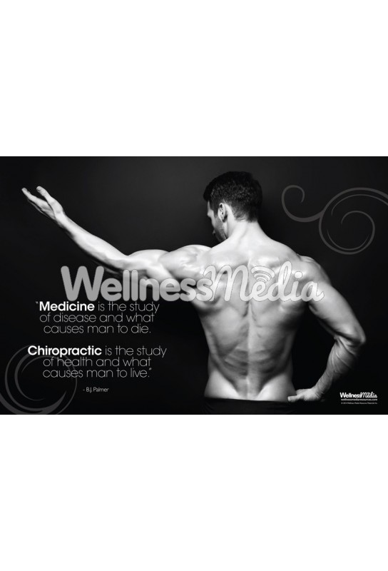 Causes Man to Live Chiropractic Poster