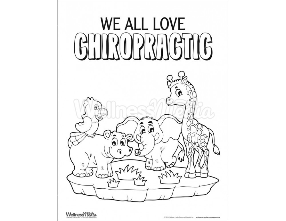 chiropractic coloring sheet