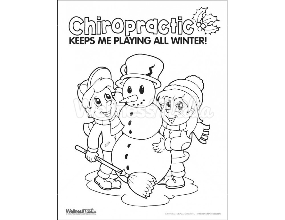 kids chriopractor coloring pages - photo#9