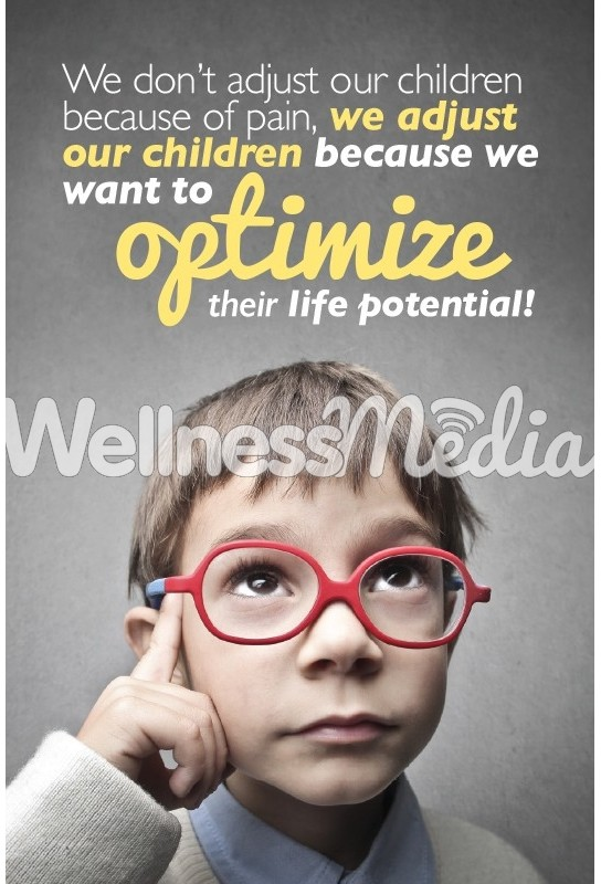 Pediatric Optimize Potential Chiropractic Postcard