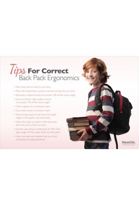 Back Pack Ergonomic Tips Poster