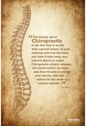 The Beauty About Chiropractic (Aged) Poster