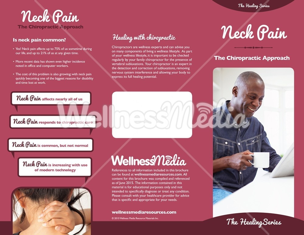 chiropractic neck pain brochure