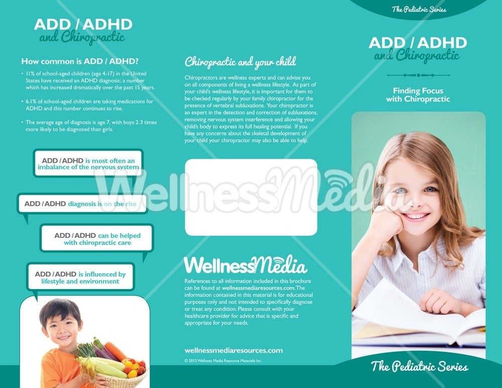 Lifestyle Choices For Kids With Adhd >> Chiropractic Adhd Brochure