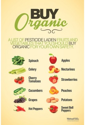 Buy Organic Fruits and Vegetables Poster
