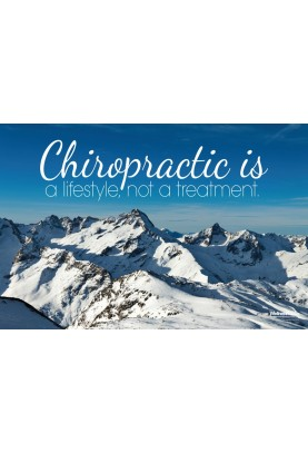 Chiropractic Lifestyle Mountains Poster
