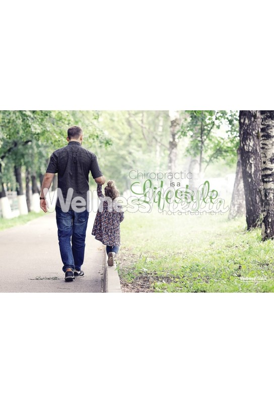 Chiropractic Lifestyle Father Daughter Poster