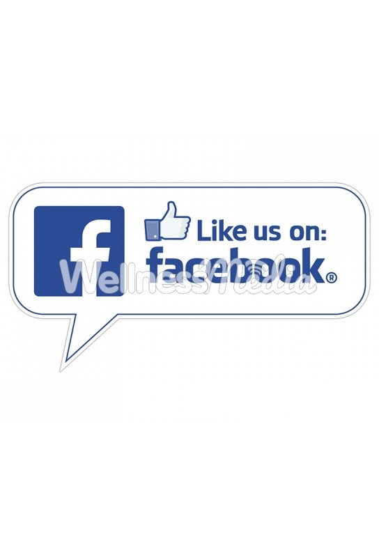 "Like us on Facebook Speech Bubble Sticker - 4"" x 8"""