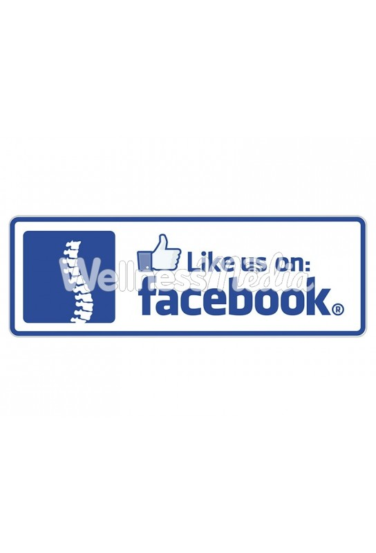 "Like us on Facebook Rectangle Sticker (Spine) - 2.75"" x 8"""