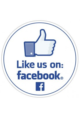 Like us on Facebook Round...
