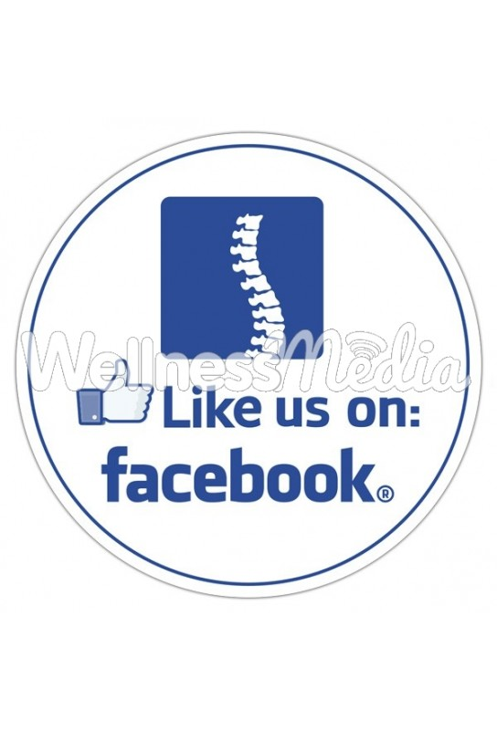 Like us on Facebook Round Sticker (Spine) - 3.5""