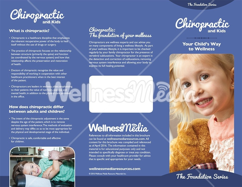 chiropractic and kids brochure