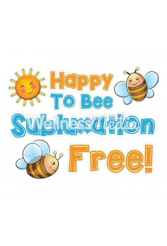 Happy to Bee Subluxation Free Wall Art