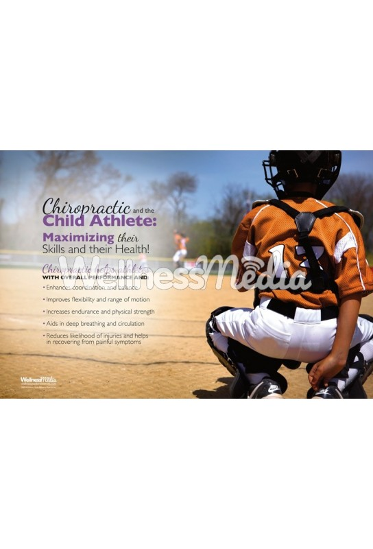 Child Athlete Baseball Poster