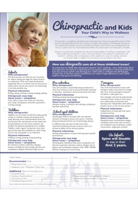 Chiropractic and Kids ROF Handout