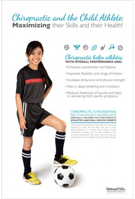 Child Athlete Soccer Poster