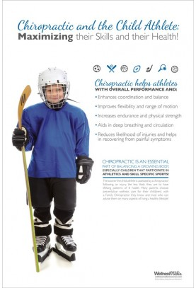 Child Athlete Hockey Poster