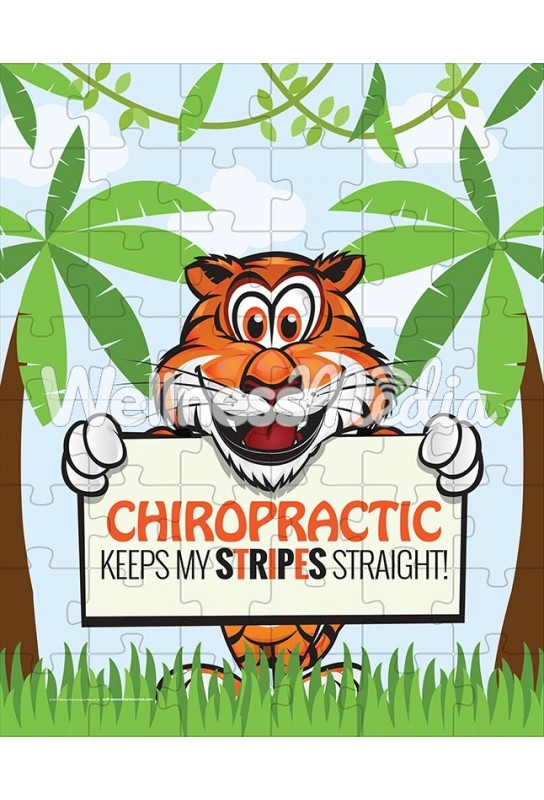 Chiropractic Keeps My Stripes Straight Puzzle
