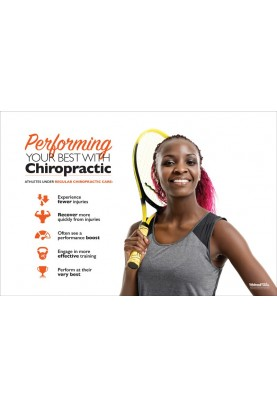 Chiropractic and Athletes Tennis Poster