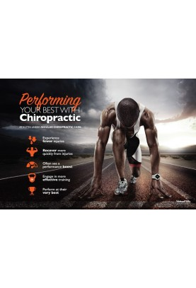 Chiropractic and Athletes Runner Poster