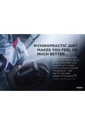 Chiropractic and Athletes Football Poster