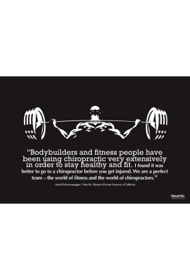 Chiropractic and Athletes Weightlifting Poster