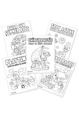 Series 07 - Summer Fun Chiropractic Coloring Sheets