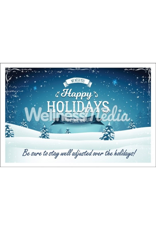 We Wish You Happy Holidays Postcard