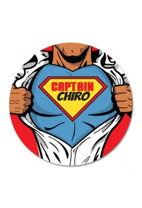 Captain Chiro Chiropractic Sticker