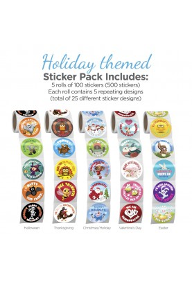 Holiday Themed Sticker Pack...