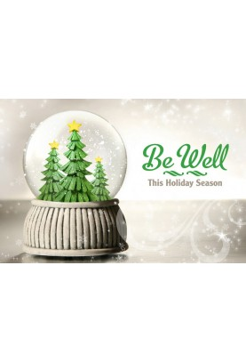 Be Well Holiday Postcard