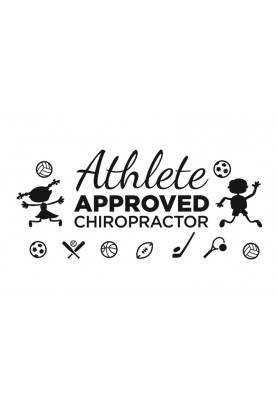 "Athlete Approved Chiropractor Decal - 14"" x 30"""