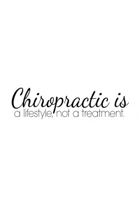 "Chiro is a Lifestyle Decal - 24"" x 7"""