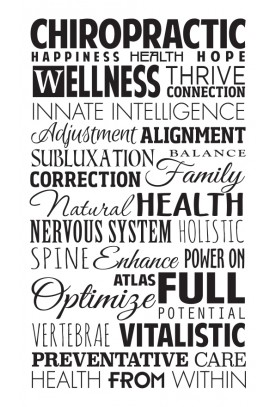 "Chiropractic Word Collage Decal - 19"" x 32"""