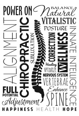 "Chiropractic Word Collage Decal - 20"" x 30"""
