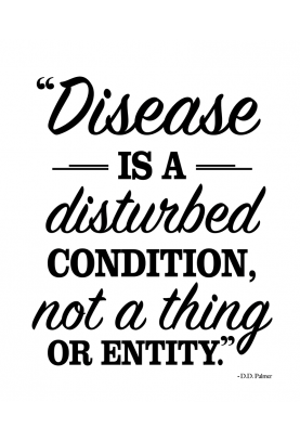 "Disease is a Disturbed Condition Decal - 22"" x 28"""