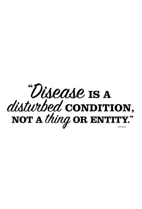 "Disease is a Disturbed Condition Decal - 30"" x 11"""
