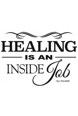 "Healing is an Inside Job Decal - 18"" x 24"""