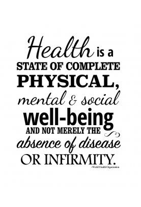 "Health is a State Decal - 22"" x 28"""
