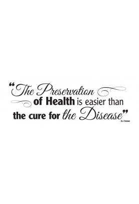 "Preservation of Health Decal - 30"" x 10"""