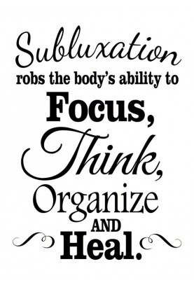 "Subluxation Robs the Body Decal - 22"" x 28"""