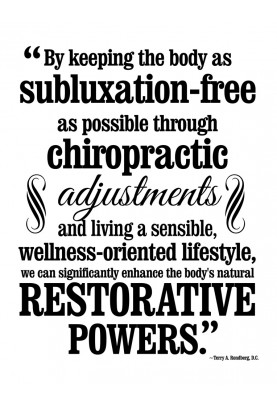 "Subluxation-free Decal - 22"" x 29"""
