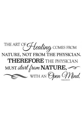 "The Art of Healing Decal - 15"" x 30"""
