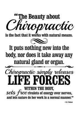 "The Beauty About Chiropractic Decal - 22"" x 29"""