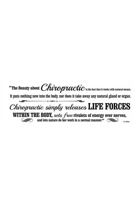 "The Beauty About Chiropractic Decal - 30"" x 10"""