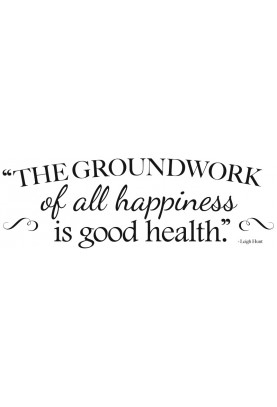 "The Groundwork of Happiness Decal - 30"" x 10"""