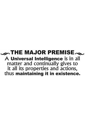 "The Major Premise Decal - 30"" x 10"""