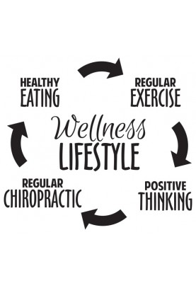 "Wellness Lifestyle Circle Decal - 22"" x 24"""
