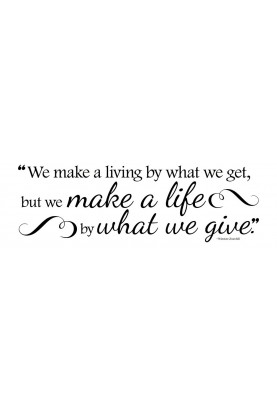 "What We Give Decal - 30"" x 10"""