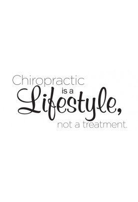 "Chiro is a Lifestyle Decal - 48"" x 20"""